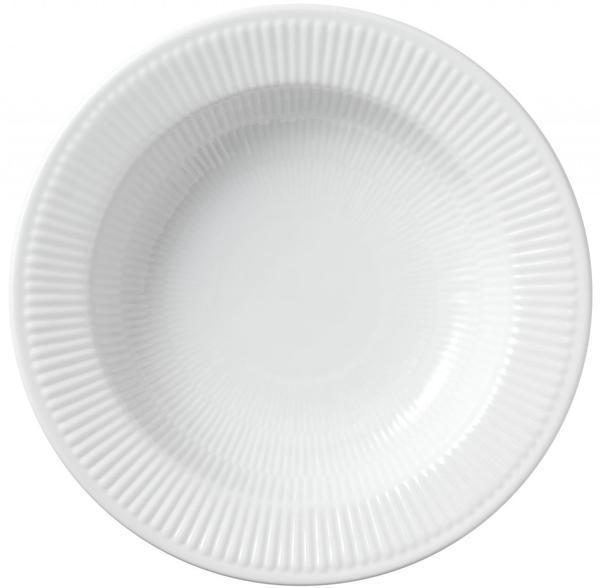 Royal Copenhagen Weiß Gerippt tiefer Teller 1 (30 cm)
