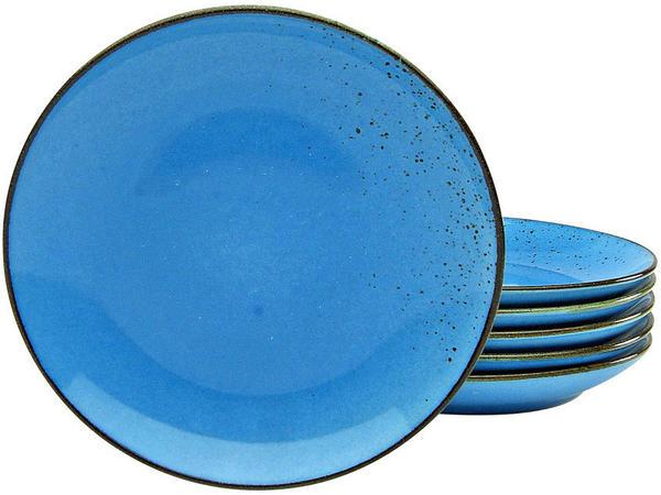 CreaTable Dessertteller Nature Collection 21 cm (6er Set) blau
