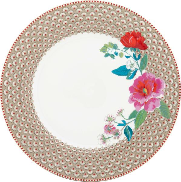 PiP Studio Floral Rose Speiseteller (26,5 cm) khaki