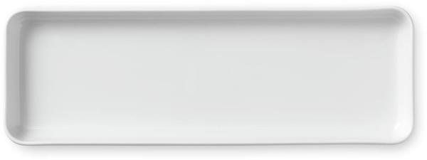 Royal Copenhagen Weiß Gerippt rechteckiger Teller (36 cm)