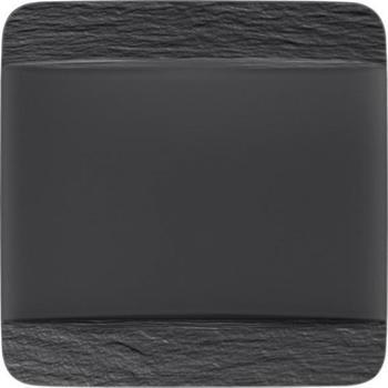 Villeroy & Boch Manufacture Rock Speiseteller quadratisch schwarz