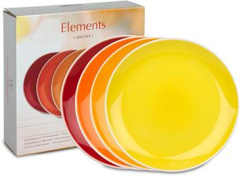 Waechtersbach Frühstücksteller Elements Magma (4 Stk.)