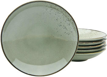 CreaTable Suppenteller Nature Collection 22 cm grau (6-er Set)