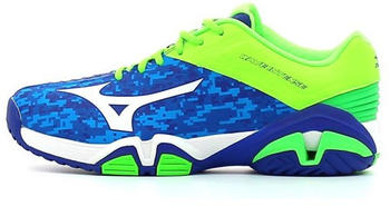 Mizuno Wave Intense Tour 2 AC blue camouflage/white/green gecko