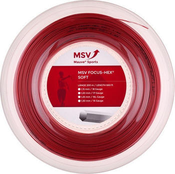 MSV Mauve Sport Focus Hex 200m 1,25mm rot