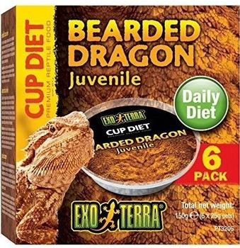 Exo Terra Cup Diet - Bearded Dragon Juvenile 6 x 25 g