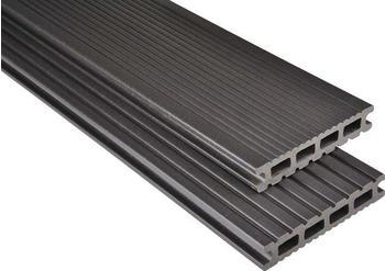 Kosche Kovalex-Bodendiele Exklusiv graubraun mattiert 300 x 14.5 cm (1 Stück)