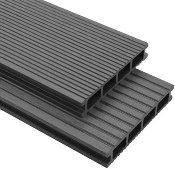 VidaXL WPC Terrassendielen grau 220 x 15 cm (30 Stück)