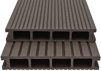 vidaXL WPC Terrasse Panel Dark Brown (16m²)