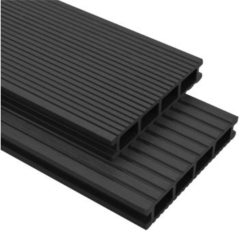 vidaXL WPC Terrasse Panel Anthracite Grey (20m²)