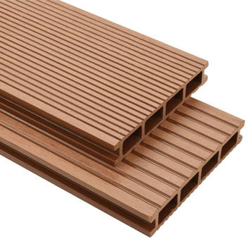 vidaXL WPC Terrasse Panel 4m Brown (25 m²)