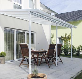 Gutta Terrassendachsystem Typ B weiß 426x306cm