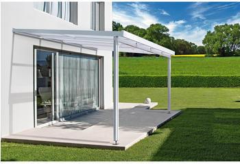 Gutta Vordach Premium weiß klar 309x306 cm
