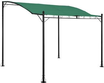 Uniprodo Vordach freistehend 260 x 300 cm grün