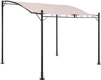 Uniprodo Vordach freistehend 260 x 300 cm beige