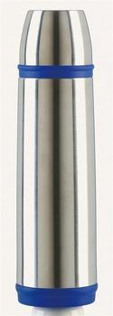 Emsa CAPTAIN Basic Mobil Isolierflasche 1,0 l edelstahl/blau