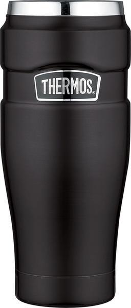 Thermos Stainless King 0,47 l, Isoliertrinkbecher matt schwarz