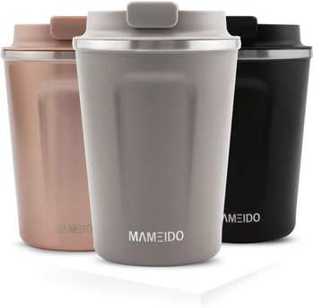 Mameido Thermobecher Edelstahl 470 ml Taupe Grey