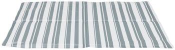 Trixie Kühlmatte 65 x 50 cm L Weiß/Grau Streifen