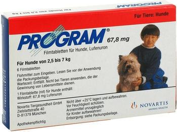 Novartis Program 67,8 mg vet. H 2,5-7 Filmtabletten 6 Stück