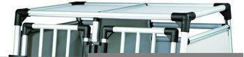 Trixie Doppeltransportbox Aluminium (93 x 64 × 88 cm)
