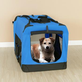 Pro-Tec Hundetransportbox königsblau faltbar L (2381)