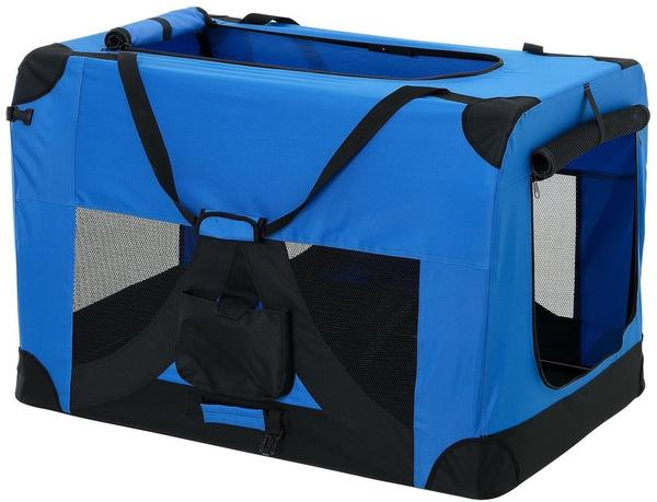 Pro-Tec Hundetransportbox königsblau faltbar M (2383)