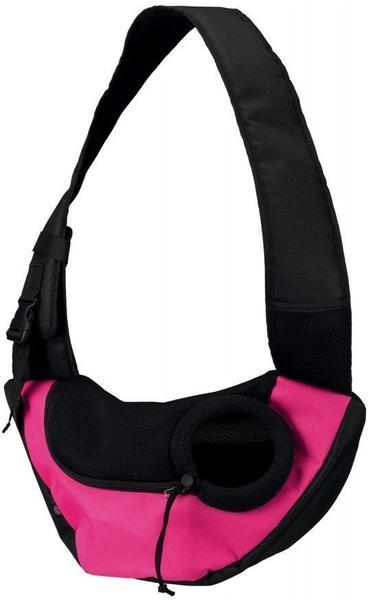 Trixie Fronttasche Sling pink/schwarz