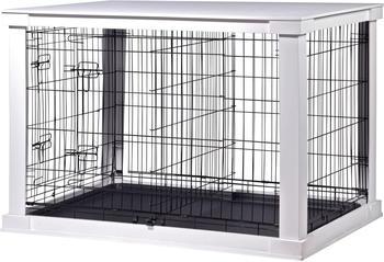 Dobar Hunde-Gitterbox L 73x110x76cm weiß