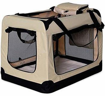 Dibea Hundetransportbox XXL beige