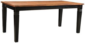 SIT Esstisch 180x90cm massiv schwarz/honigfarbig