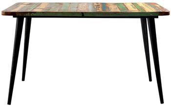 SIT Tisch aus reyceltem Altholz massiv mit Metallfüssen