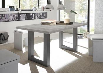Neckermann Esstisch mit Auszug graphit/Beton-Optik