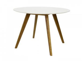 Tenzo Esstisch Jesper Ø 110 cm weiß