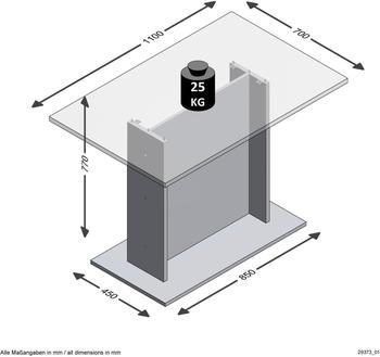 FMD Esstisch Beton-Optik 110x70cm