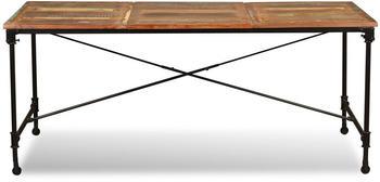 vidaXL Dining Table in Reclaimed Wood and Metal