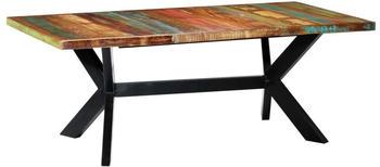 vidaXL Dining Table in Reclaimed Wood 200 x 100 x 75 cm