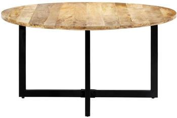 vidaXL Dining Table Round in Mango Wood 150 x 73 cm