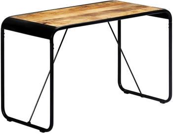 vidaXL Dining Table Mango Wood and Steel 118 x 60 x 76 cm