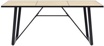 vidaXL Dining Table Imitation Oak 180 x 90 x 75 cm