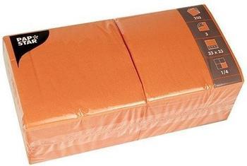 Papstar Servietten uni orange 250 Stk.