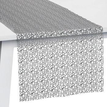 Pichler Textil Network Tischläufer 45 x 140 cm kiesel