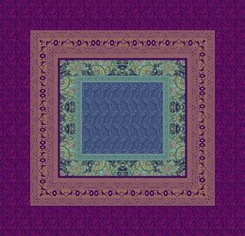Bassetti Recanati B1 blu 110x110 (9302833-B1)