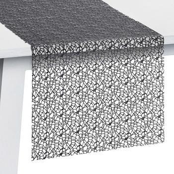 Pichler Textil Network Tischläufer 45 x 140 cm graphit