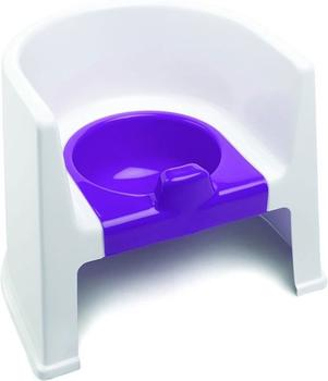The Neat Nursery Potty Chair White/Plum