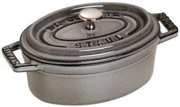 Staub Mini Cocotte oval 11 cm grafitgrau