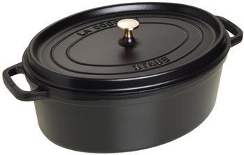 Staub Cocotte oval 37 cm schwarz