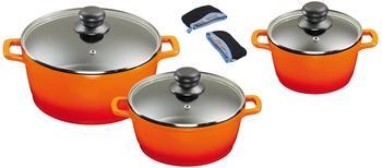 king-aluguss-kochtopfset-3-tlg-orange