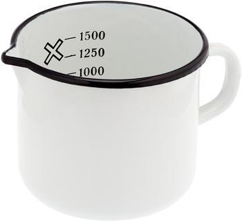 Krüger Milchtopf 14 cm mit Ausguss weiß