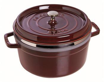 staub-la-cocotte-26-cm-rund-grenadine-mit-daempfeinsatz